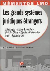 Mémento Les grands systèmes juridiques étrangers