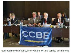 Intervention de Jean-Raymond Lemaire au CCBE
